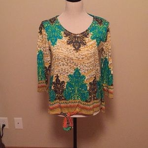 Brand new multicolored top by Multiples.